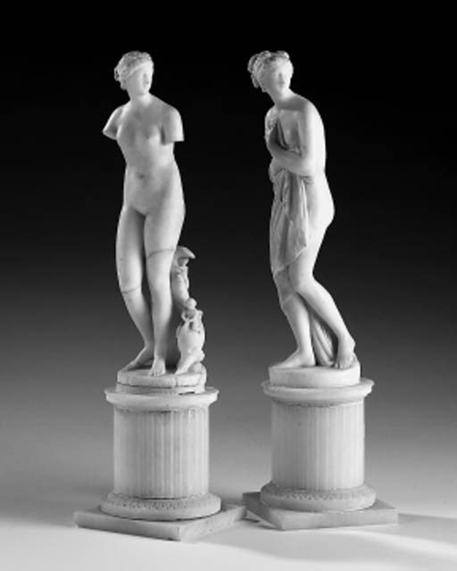 A pair of Italian alabaster fi