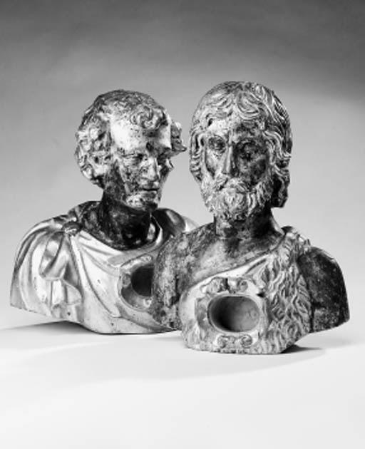 A pair of Italian reliquary bu