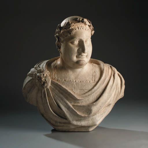 An Italian sculpted white marb
