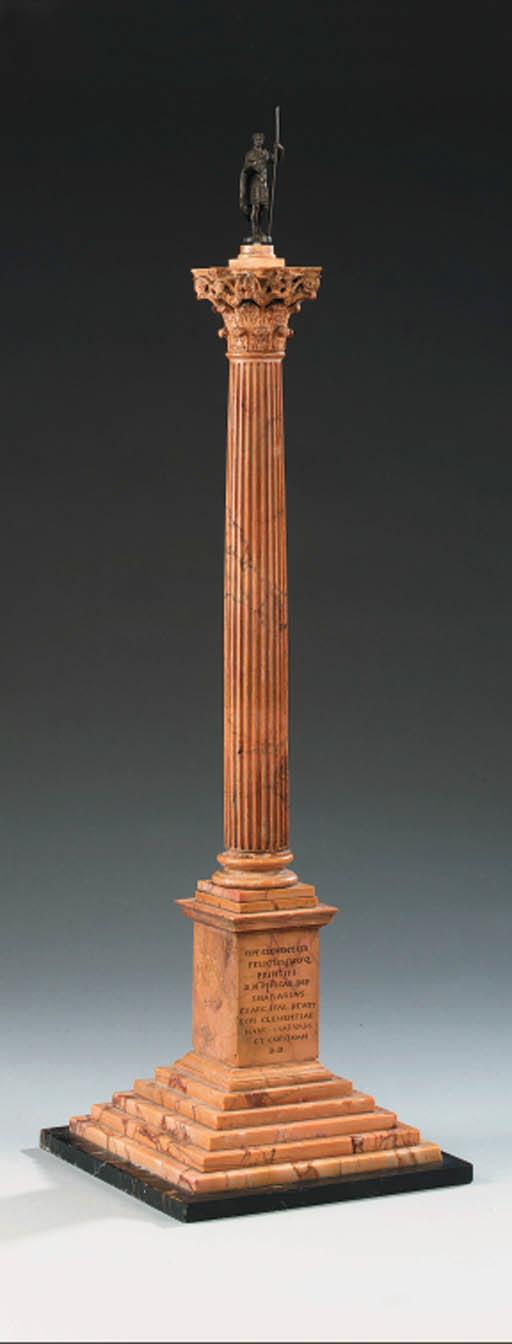 An Italian carved Siena marble