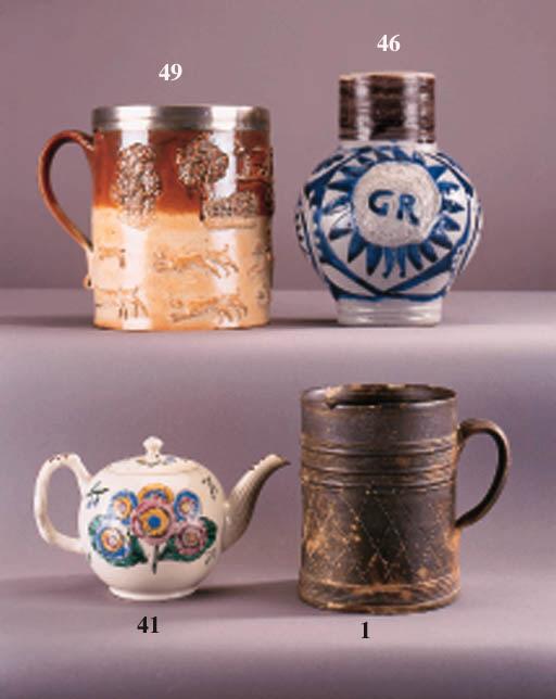 An English stoneware cylindric
