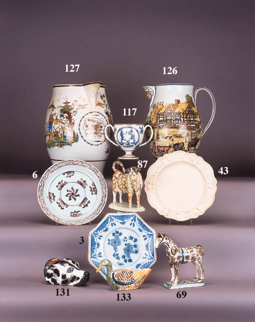 An English pearlware model of