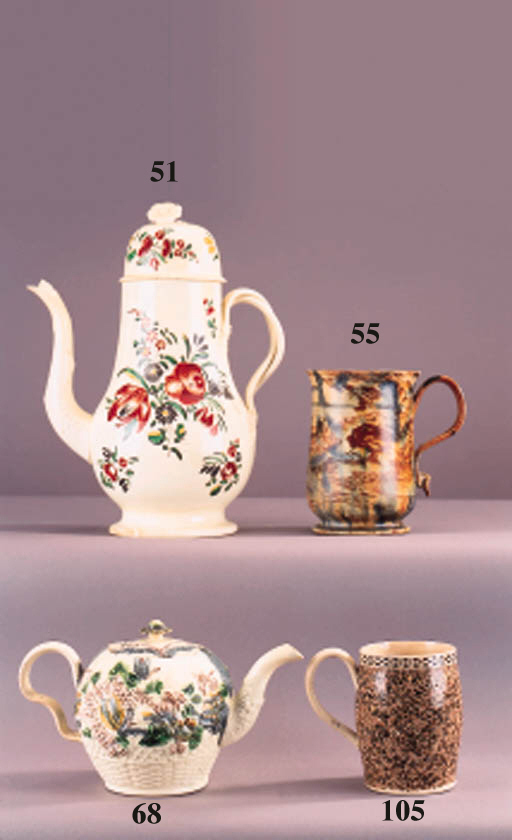 An English pearlware 'marbled'