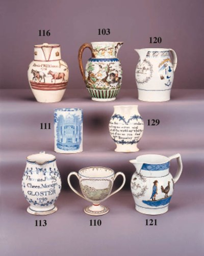 An English pearlware named and