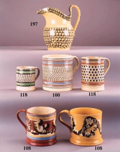 An English pearlware cylindric