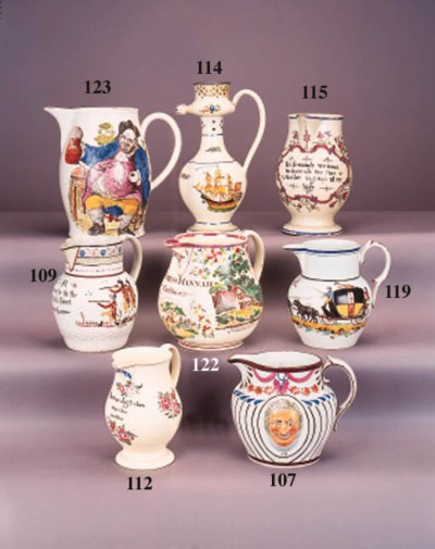 An English pearlware oviform j
