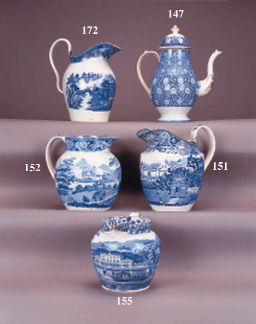 An English pottery blue and wh