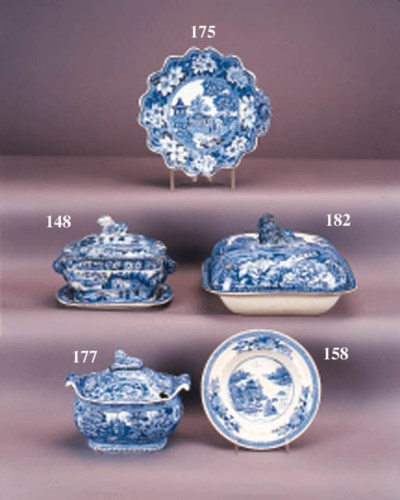 A pair of Rogers pottery blue