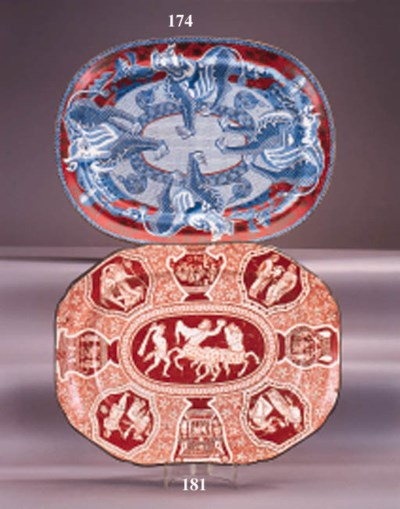 An English pottery meat dish