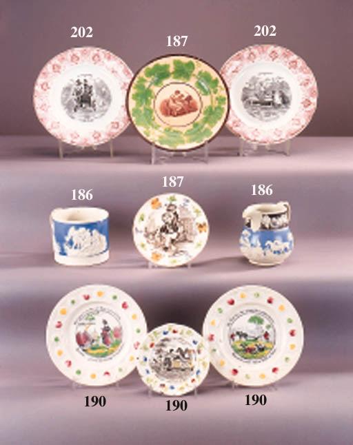 Four English pottery nursery p