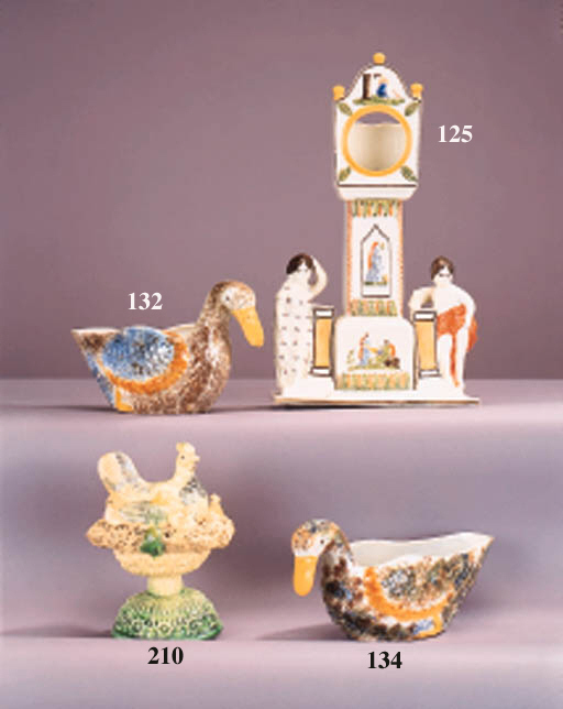 An English creamware model of