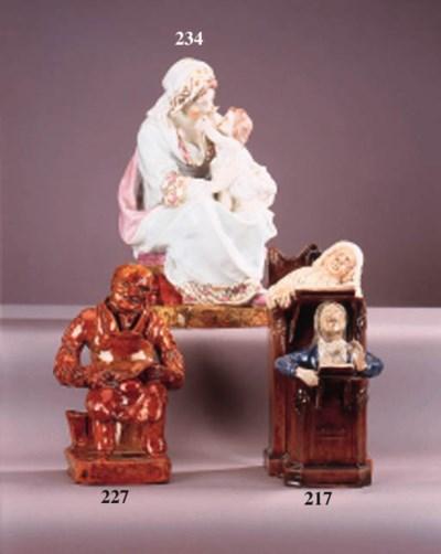 A Wood type porcelain figure o