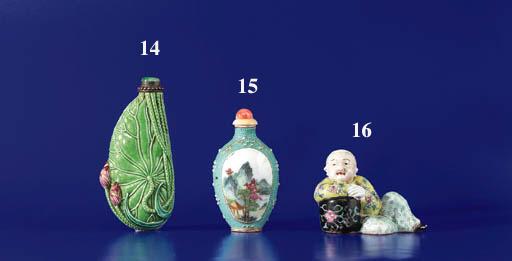 A Molded Enamelled Porcelain B