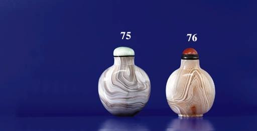 A 'Thumb-Print' Agate Bottle