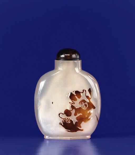 A Rare Shadow Agate Bottle