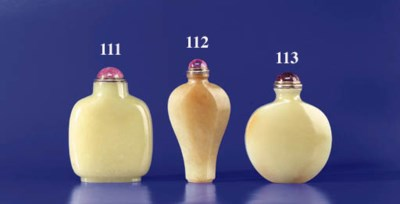 A Rounded Yellow Jade Bottle