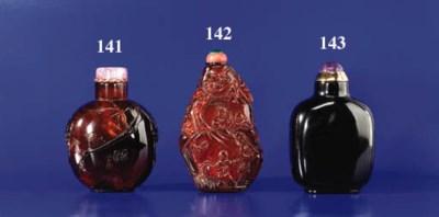 A Carved Amber Bottle