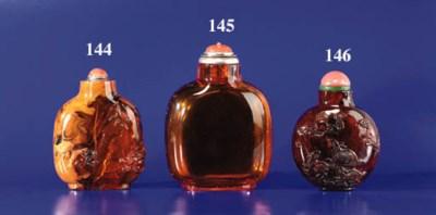 A Large Amber Bottle