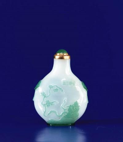 A Pale Green Glass Overlay Sem
