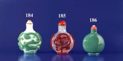 A Sea-Green Opaque Glass Bottl