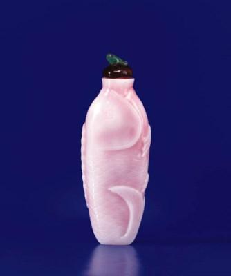 A Rare Opaque Pink-Blush Glass