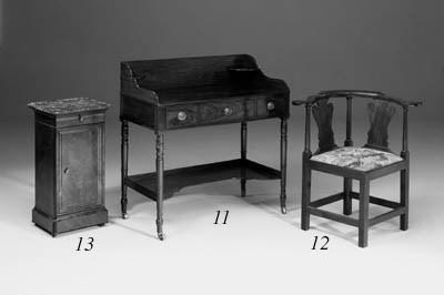 A George III mahogany corner a