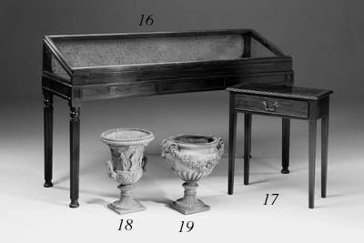 A pair of terracotta urns