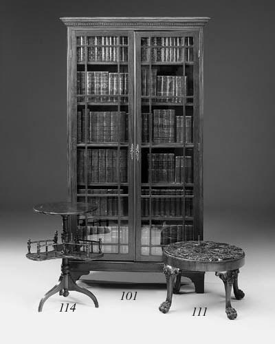 A mahogany stool, 20th century