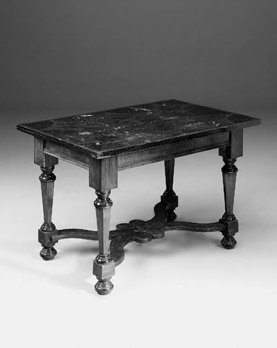 A Dutch walnut and rosewood inlaid centre table, parts 19th century