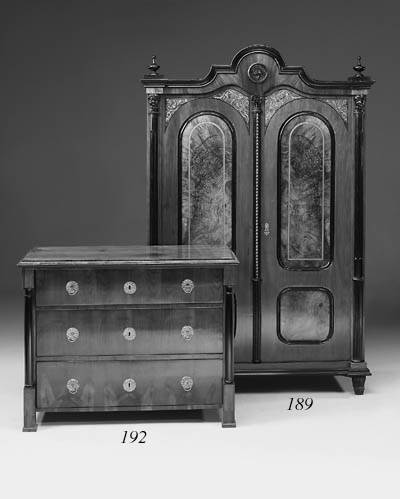 A French fruitwood and ebonise