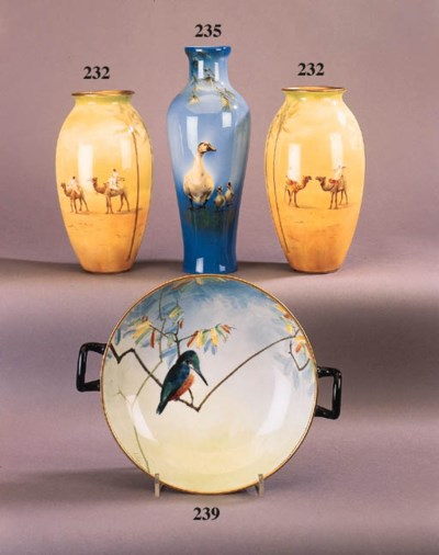 A pair of Royal Doulton porcel