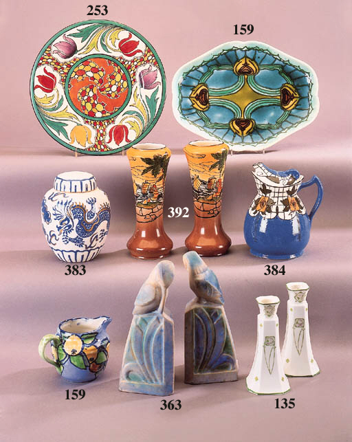A Maling pottery plate