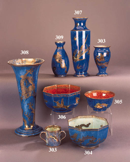 A Wedgwood Dragon lustre vase
