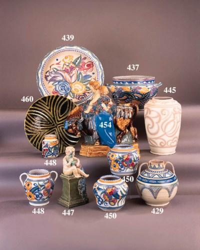 A Poole pottery shoulder vase