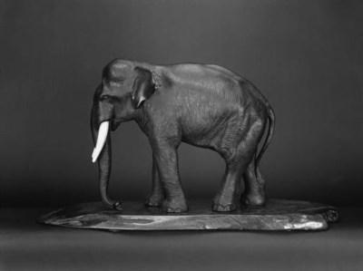 A Japanese bronze elephant