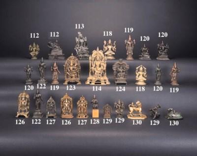 An Indian bronze Shiva and Par