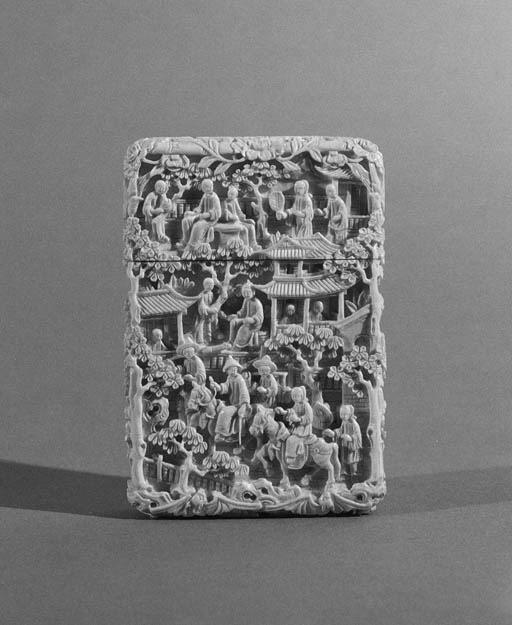 A Canton rectangular card case