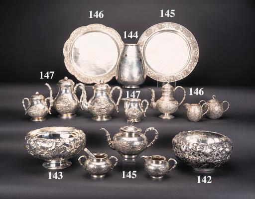 A Japanese silver stem bowl