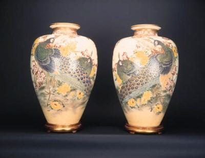 A large pair of Satsuma balust
