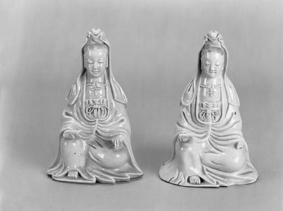A pair of blanc de chine model
