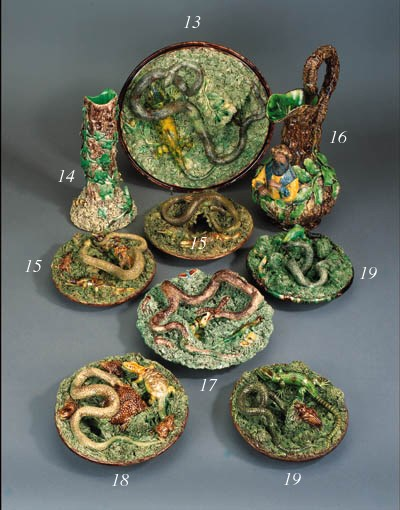 Two Portuguese Palissy style d