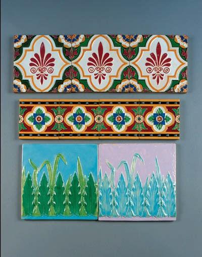 Four Minton & Co. tiles