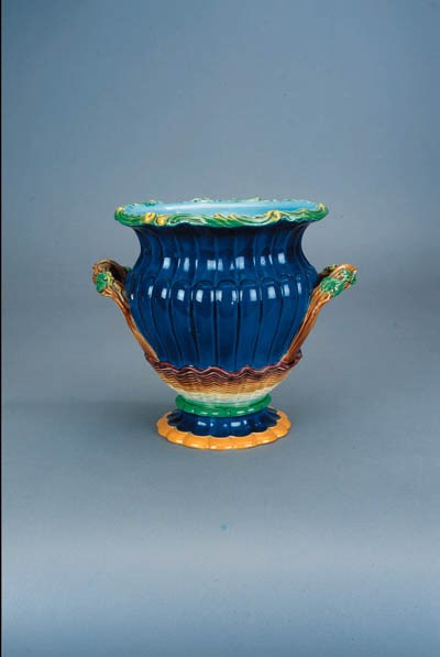 A Minton two-handled urn-shape