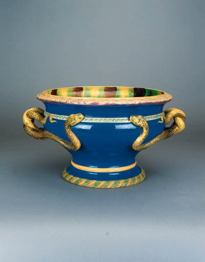 A pair of Minton urn-shaped bl