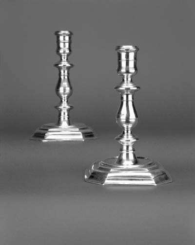 A pair of Queen Anne cast cand