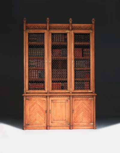 A late Victorian oak library b