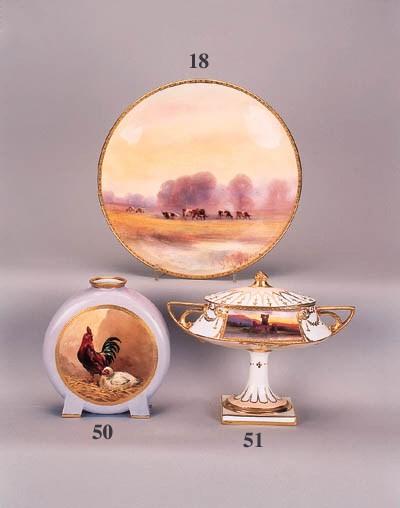 A Minton Art Nouveau two-handl