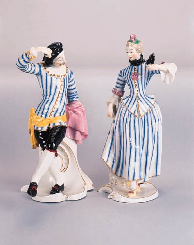 A pair of Nymphenberg figures