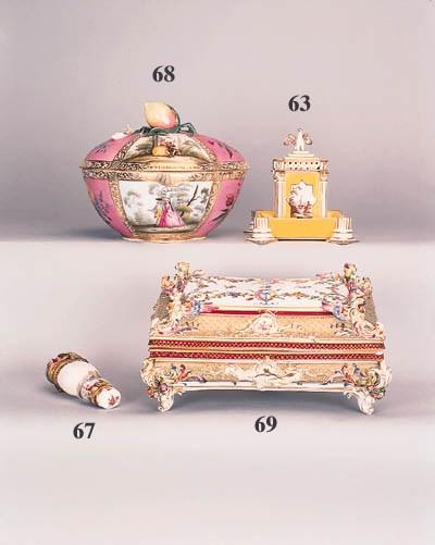 A German porcelain rectangular
