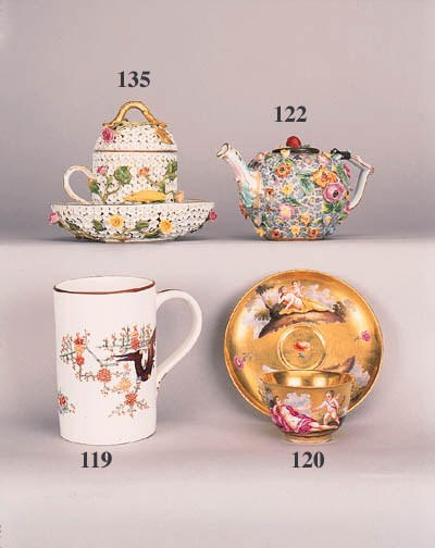 A Meissen gilt-ground teacup a